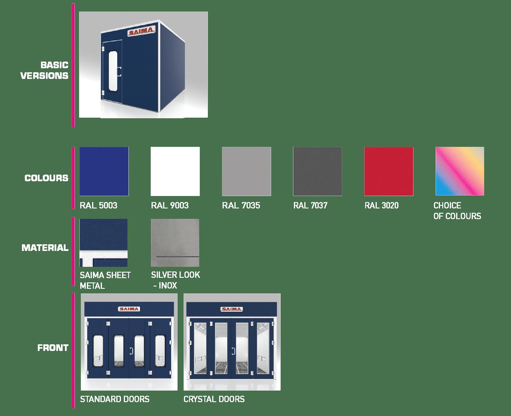 cabina di verniciatura KLEENBOX_otional_EN